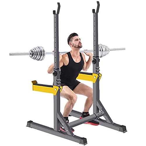 GASLIKE Squat Rack Multifunzione, Stand Bench Press Fitness Bilanciere Regolabile Rack Power Weight Bench Support per Manubri Unisex-Adulto Pesistica Fitness Supporto, Carico Massimo 260 kg