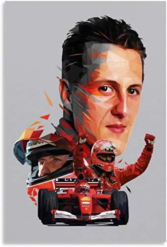HuGuan Leinwand Malerei Bild Michael Schumacher und Picture Bedroom Decor Poster Wandkunst Bilder Und Drucke 11.8
