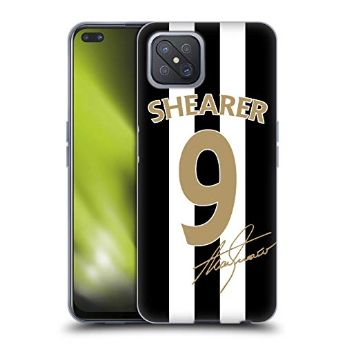 Head Case Designs Officially Licensed Newcastle United FC NUFC Alan Shearer Signed Gold Jersey Retro Badge Collection Soft Gel Case Compatible with Oppo A92s