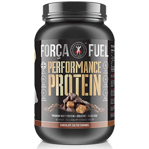30g Whey Protein | 5g Creatine Monohydrate | EAA | BCAA | Build Muscle | Lose Fat | Improve Performance | Speed Up Recovery | Enhance Muscle Protein Synthesis | Força Fuel (Chocolate Salted Caramel)
