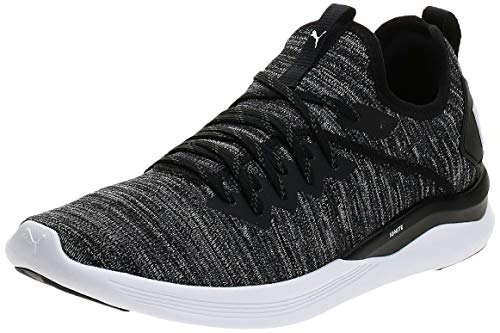 PUMA Herren IGNITE Flash evoKNIT Niedrig, Black-Asphalt-White, 48.5 EU