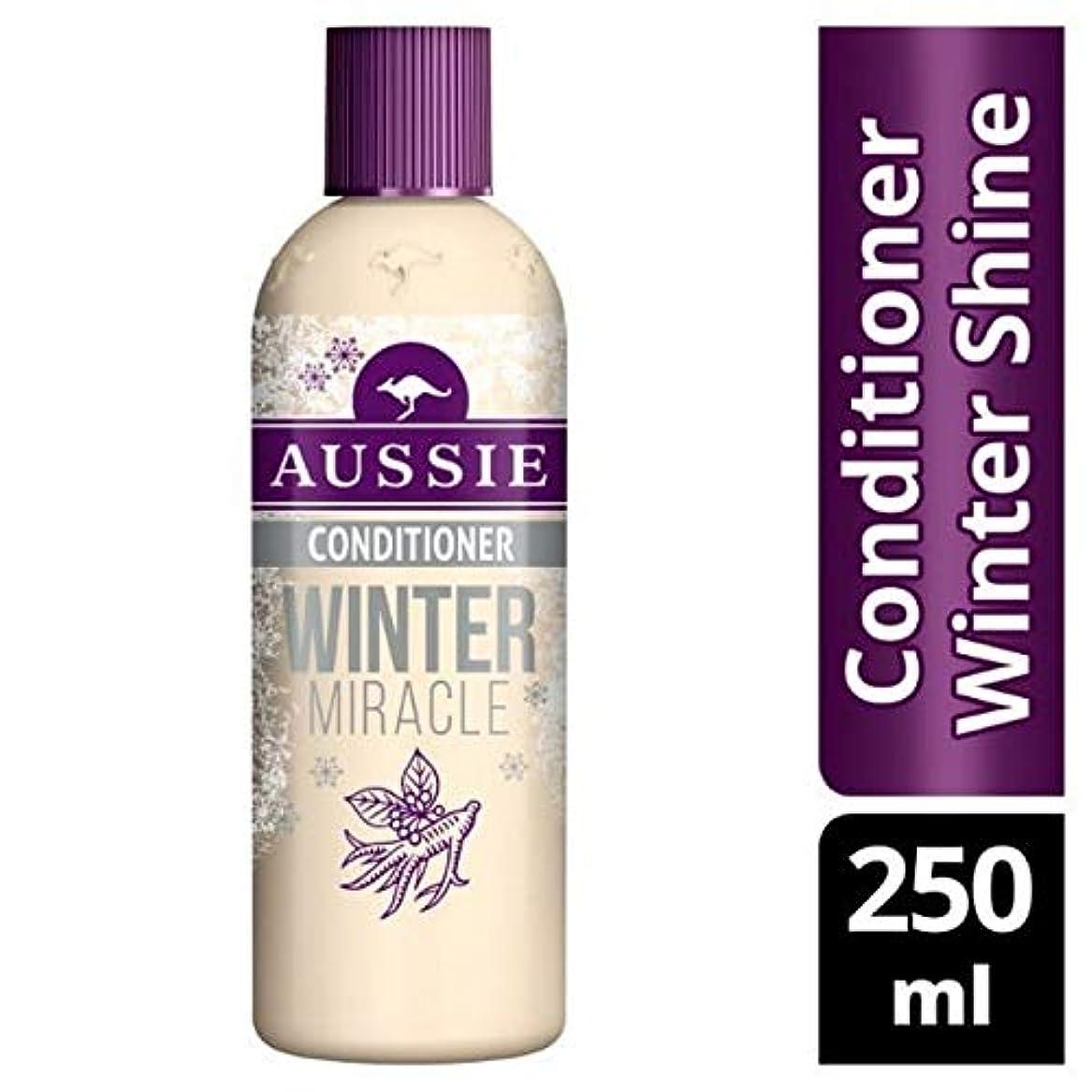 毛布ギャラントリー貼り直す[Aussie ] 鈍い、疲れた髪の250ミリリットルのためのオーストラリアコンディショナー冬の奇跡 - Aussie Conditioner Winter Miracle For Dull, Tired Hair 250ml [並行輸入品]