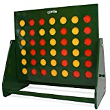 Big Game Hunters Maxi 4 in a Row, Giant Garden Game. Beautiful Large Hand Painted Green Frame, 61.5cm x 58.5cm
