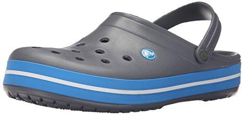 Crocs Unisex-Erwachsene Crocband Clogs, Grau (Charcoal/Ocean), 46/47 EU