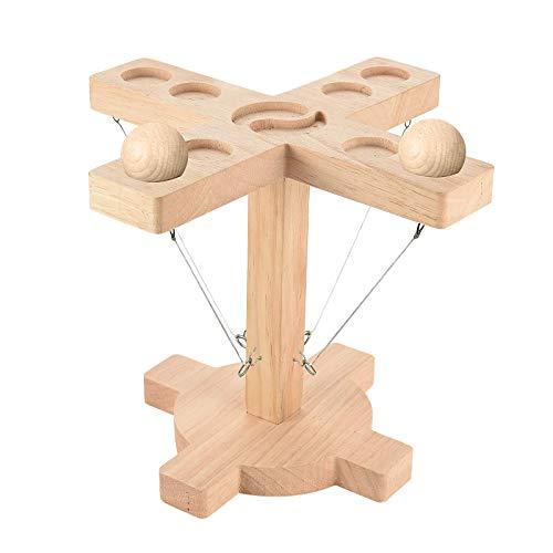 Tik TOK ganchos juego de lanzamiento de anillo y el gancho de lanzamiento para 4 personas y mejora Dificultad Bar Battle Game & Hand Made Wooden Loop & Fast-Ritmo Interactive Game In The Bar