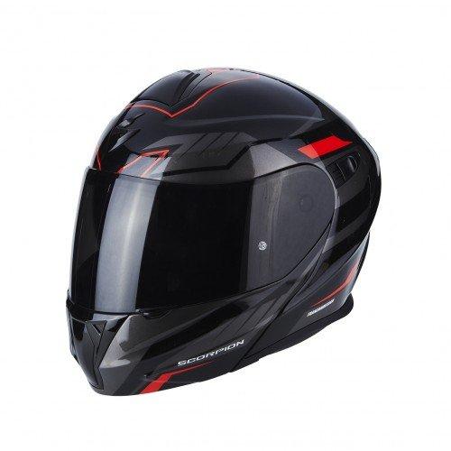 Scorpion Casco moto EXO-920 Shuttle Nero-Argento-Rosso XL
