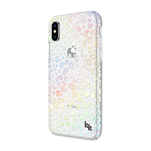 KENDALL + KYLIE Protective Printed Case for iPhone X - Holographic Foil Leopard/Clear