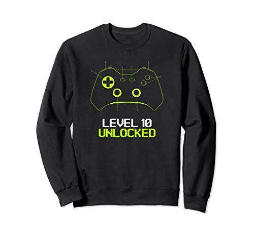 Level 10 Unlocked | Gamer Gifts | Funny Video Game Sweatshirt