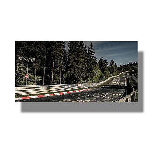 MULMF Nurburgring Rally Road Sport Auto Track Landschap Wall Art Poster Foto's Print Canvas Schilderen Woonkamer Home Decor- 40X80Cm Geen Frame