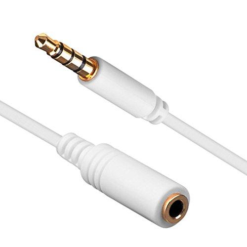 Ligawo 6535052 Klinken Kabel (1,5m, 3,5mm Stecker/Buchse 4-polig) weiß