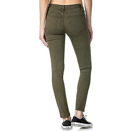 Miss Me Damen Jeans, 25, Olive Green