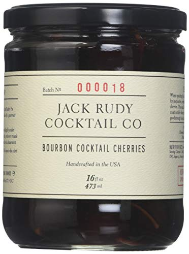 Jack Rudy Cocktail Co, Cherries Bourbon Barrel Aged, 16 Fl Oz