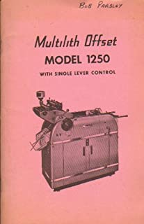 Multilith Offset Model 1250 with Single Lever Control Reference Manual