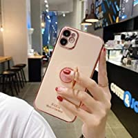 iPhoneXRケース おしゃれリング付きケース リング付 シンプル カバー ケース おしゃれ アイホンケース XR iPhoneケース アイフォンテンアール iPhoneXR テンアール 6.1インチ iPhoneXRケース アイフォンテンアールケース 耐衝撃 衝撃吸収 ソフト 韓国 ファッション オルチャン 韓流 携帯ケース 海外 アイフォンケース メタリック スマホケース オシャレ アイフォン アイホン 背面 カバー スマホリング付きケース iPhoneリング付ケース TPU カップル 柔らか素材 リング 落下防止 スマホリング メンズ レディース スマホケース 男性 女性 可愛い かわいい 韓国風 カワイイ ペア お洒落 インスタ映え ロゴ (iPhoneXR, ピンク)