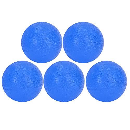 zhuolong 5PCS Bola de Agarre de rehabilitación de Dedos Ejercicio de Entrenamiento de Fuerza de muñeca Bola de Agarre de Mano(Azul)