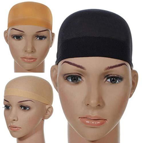 Gesh Peluca de lujo con redecilla para tejer 2 piezas/paquete de peluca de malla elástica para hacer pelucas tamaño libre (tono de piel)
