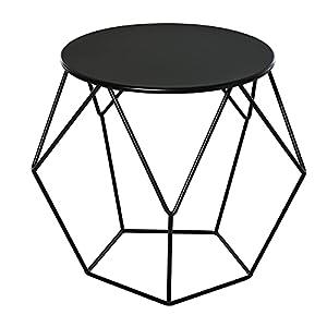 DESIGN NORDICO MINIMALISTA: Elegante e dalle dimensioni compatte. Ideale come tavolino da caffè. AMPIO PIANO: Piano rotondo da 40 cm per oggetti di qualunque tipo. SPAZIO INFERIORE APERTO: Il design geometrico aperto crea una sensazione di spazio. ST...