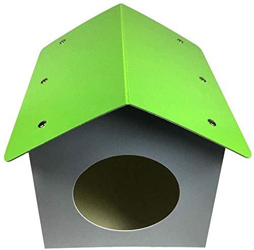 Interior y al aire libre impermeable perro perro tejido grande mascota carcasa perro nido caliente interior al aire libre animal jaula,Grey- 36 * 36 * 32cm