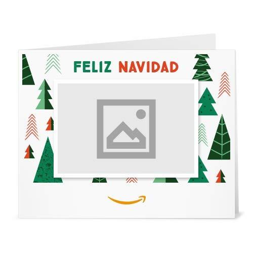 Cheque Regalo de Amazon.es - Imprimir - Carga una foto - Arbol de navidad