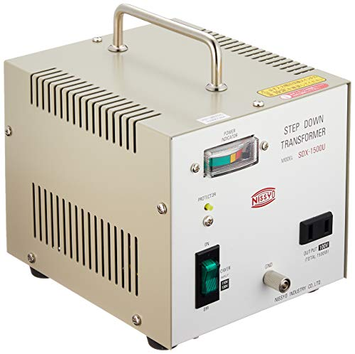 Nissyo 110/120V to 100V 1500W Step Down Voltage Transformer Converter for Jpanese product. SDX-1500U (Japan Model)