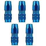 VICASKY 5 Piezas Acoplador de Grasa Puntas de Grasa Boquilla de Pulverización Pezones de Repuesto Rociador de Grasa ACCESORIOS Herramienta Azul