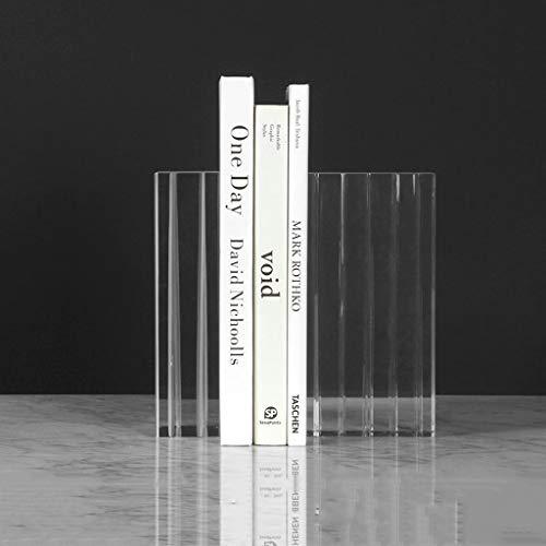 Bookends For Shelves Decorative Sujetalibros Almacenamiento de Oficina Decoración Librería gabinete del vino decoración sencilla cristal decoración del sujetalibros sujetalibros de lujo Bookends
