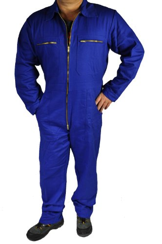 Iwea Stabiler Arbeitsoverall Arbeitskleidung Overall, Blau, 56