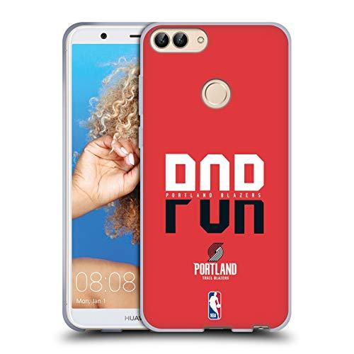 Officiële NBA Typografie 2019/20 Portland Trail Blazers Soft Gel Case Compatibel voor Huawei P Smart/Enjoy 7S