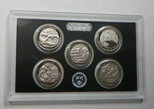 2017 S Enhanced Uncirculated Parks Quarter Set - 5 coins - Quarters GEM Unc - No Box or COA US Mint Coin Box Coa No Coins