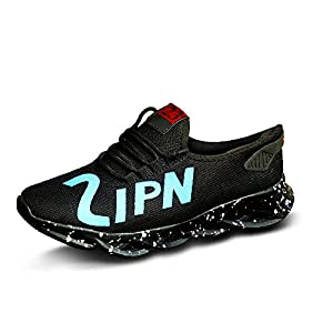 Inklenzo Men's Fashion Sneakers Breathable Mesh Running Shoes Yellow Black White Red Orange Green Soft Sole Casual…