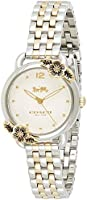 Coach Women's Chalk Dial Two Tone Stainless Steel Watch - 14503212