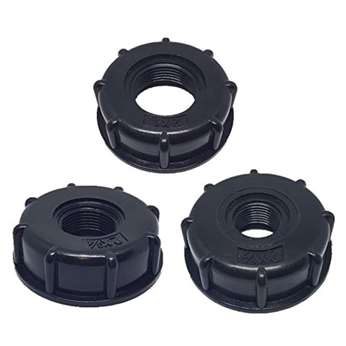Garden Water Connectors, 1/2 Inch 3/4 Inch 1 Inch Thread Tank Adapter Tap Connector Replacement Valve Fitting for Home Garden Water Connectors