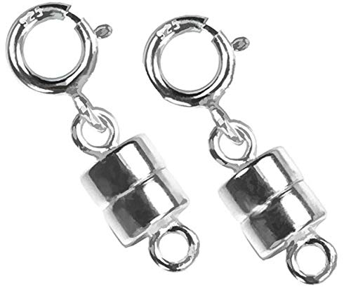 2 Sterling Silver Converters Magnetic Clasps For Small Necklaces