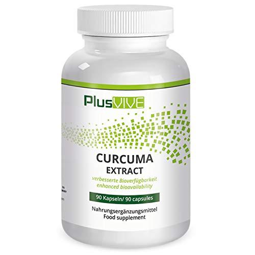 Plusvive Kurkuma-Extrakt, hochdosiert mit Piperin und Formel zur Verbesserung der Bioverfügbarkeit