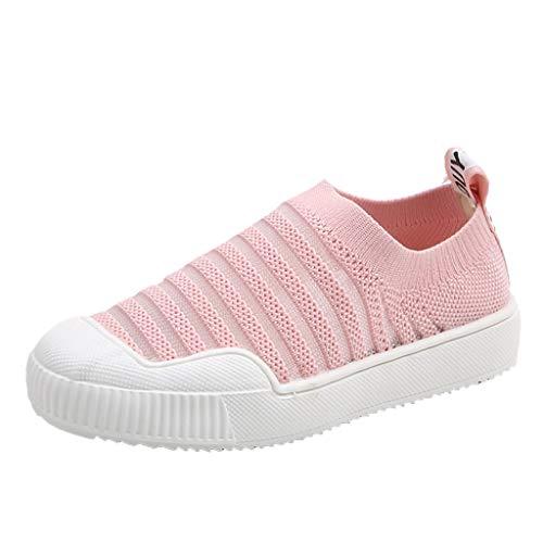 Jaysis Mädchen Jungen rutschfeste Sneakers weiches handgefühl mesh Freizeitschuhe Festival Schule schwarzes rosafarbenes gelb