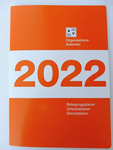 Organisationskalender 2022, Schafberger Verlag, Zimmerbelegungsplan, Belegungsplan, Urlaubsplan, Dienstplaner