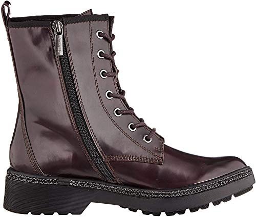 Tamaris Damen 1-1-25224-23 Biker Boots, Rot (Bordeaux Brush 547), 40 EU