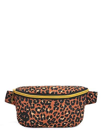 Mi-Pac Bum Tas Nylon Luipaard - Zwart Sport Taille Pack, 22 cm, 1.6 Liters, Luipaard Print