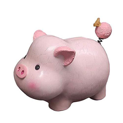 WWKA Cerámica Hucha Rosa, Perfecto for Regalos únicos, Kinder decoración, Recuerdos de Ahorro Piggy Hucha, Rosa LLAN