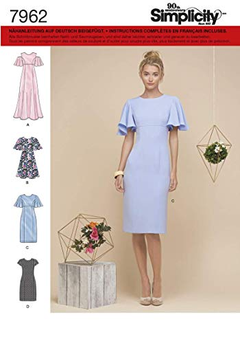 Simplicity Patron 7962 Damenkleid, 40-48