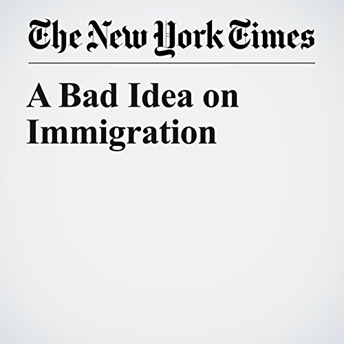 A Bad Idea on Immigration copertina