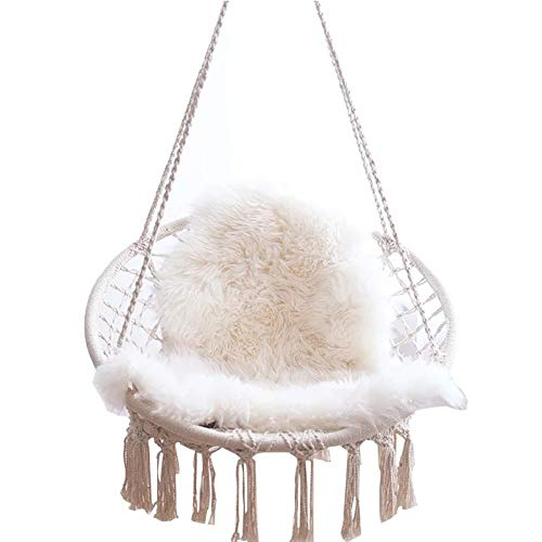 Swing Tassel Hanging Chair Home Indoor Woven Basket Wicker Chair Balcony Cradle Chair