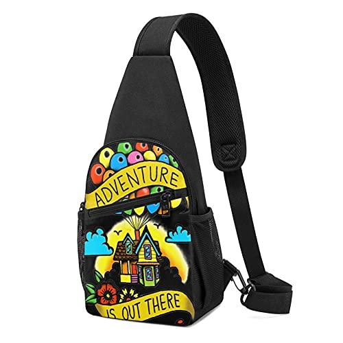 Trousses Adventure Is out There! Crossbody Sling Bags Multifunción Hombro Bolsa de Pecho Senderismo Camping Mochila Deportiva