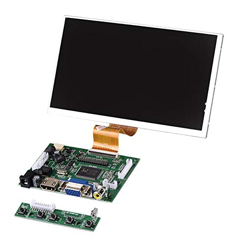 Display Screen,7' 50Pin High Resolution 1024X600 Display Screen+ HDMI+VGA+2AV Driver Board,For Raspberry Pi,Widely compatible