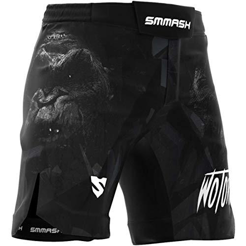 SMMASH Wotore Monkey Herren Ultra Ligh Sport Shorts für Boxen, Kampfsport, MMA, UFC, Thaiboxen Sporthose Kurz für Männer, Crossfit Trainingshose Atmungsaktiv und Leicht Hergestellt in der EU (XL)