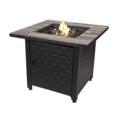 Endless Summer GAD15262SP 31.5-in W 50000-BTU Black/Grey Tabletop Steel Propane Gas Fire Table -  Blue Rhino
