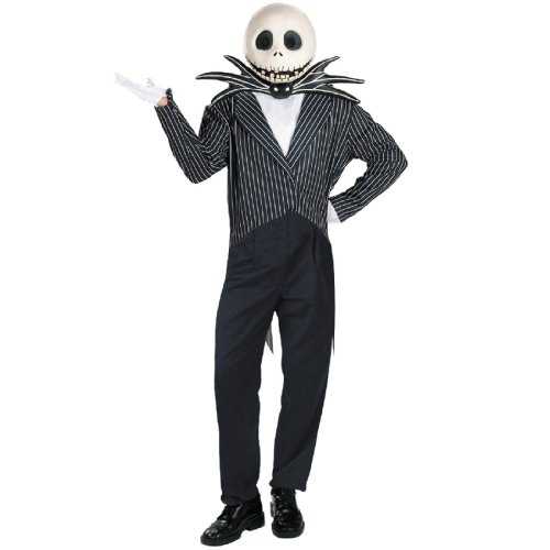 Jack Skellington Adult Halloween Costume, XL