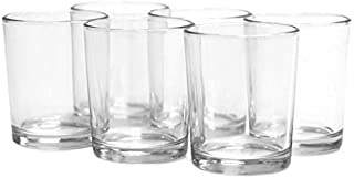 Koyal Wholesale Candle Holder, Clear Glass, Pack of 12