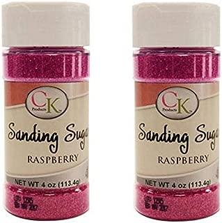 Sanding Sugar 4 Oz Bottle (Pack of 2) (Raspberry)