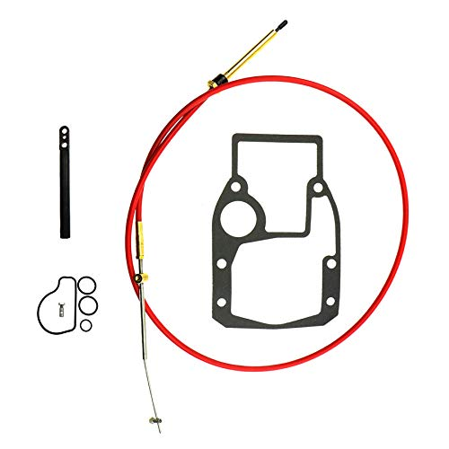 Qnbes Shift Cable Kit Fit for OMC Cobra Sterndrive 1988-1993, Replace 987661 986654 987498 778040, Adjustment Tools Mounting Gasket Set